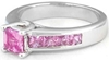 All Princess Pink Sapphire Wedding Rings