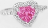 Heart Pink Sapphire Ring