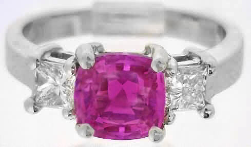 Unheated Pink Sapphire Ring