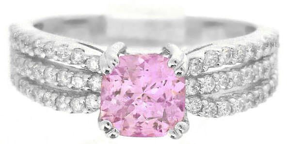 Light Pink Sapphire Radiant Cut Ring