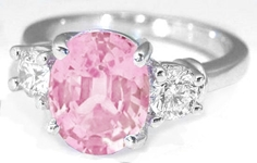style light cushion cut real engagement sapphire sapphires ring rings pink bridal