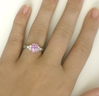 Light Pink Sapphire Ring 2 51 ctw Sapphire and Diamond Ring in