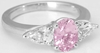 Past Present Future 2.03 ctw Pink Sapphire and White Sapphire Ring in 14k white gold