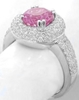 Pink Sapphire and Pave Diamond Rings