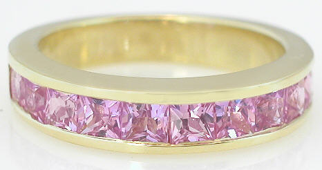 Pink Sapphire Rings in Gold