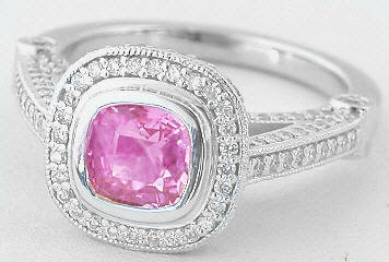 Platinum Pink Sapphire Rings