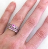 All Pink Sapphire Wedding Rings