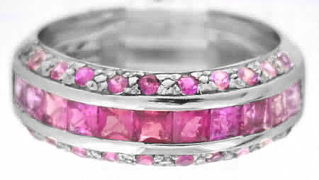 Shades of Pink Sapphire Rings