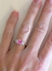 earth rare sapphire scalloped with or halo vintage products ring diamond style wedding rings pink jewelry band engagement