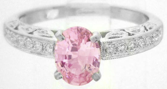 Antique Pink Sapphire Diamond Rings