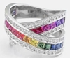 ring bayou by wedding rings rainbow titanium jewelry handcrafted exotica rainbows with