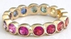 Round Rainbow Eternity Bands