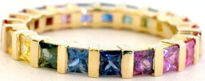 Bar Set Sapphire Eternity Band