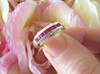 Solid 14k yellow gold Channel Set Natural Ruby Stackable Band Ring