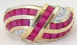 Solid 14k Yellow Gold Natural Ruby Ring for Every Day Wear for sale