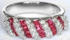 Baguette Ruby and Diamond Ring