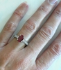 Oval Burmese Ruby and Diamond Ring