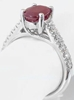 Ruby Rings - Natural Ruby Ring with Diamonds in 14k white gold