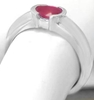 Ruby Rings - Natural Oval East-West Set in 14k White Gold