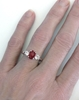 Ruby Engagement Rings with Burmese Ruby and White Sapphires