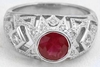 Antique Style Ruby Rings