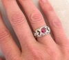 One of a Kind Ruby Ring Deco Style