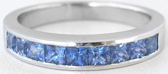 Princess Cut Sapphire Wedding Ring