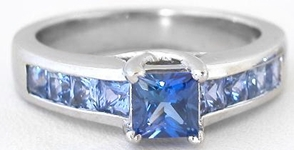 Shades of blue sapphire Ring