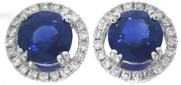Rich Blue Sapphire Earrings