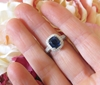 Natural 3 carat royal natural blue sapphire engagement ring with a genuine diamond halo and fancy ornate 18k white gold setting for sale
