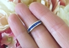Channel Set Princess Cut Real Sapphire Wedding Band Ring in solid 14k white gold