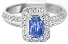 Radiant Sapphire Ring