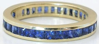 Gold Sapphire Eternity Ring