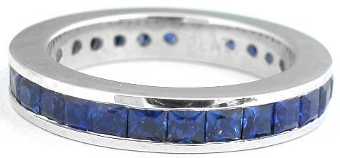 Rich blue Sapphire Eternity Ring