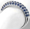 Pave Blue Sapphire Ring