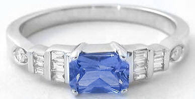 Radiant Cut Sapphire Ring