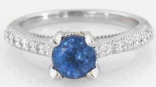 Ornate Sapphire Ring