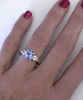Blue and White Sapphire Engagement Ring- no diamonds