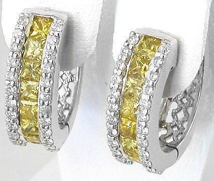 Yellow Shire Diamond Earrings