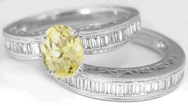 Light Yellow Sapphire Ring