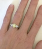 Genuine Yellow Sapphire Engagement Ring on the hand