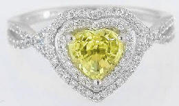 Heart Yellow Diamond Ring