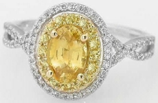 Unique Yellow Sapphire Rings