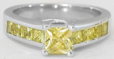 All Yellow Sapphire Ring
