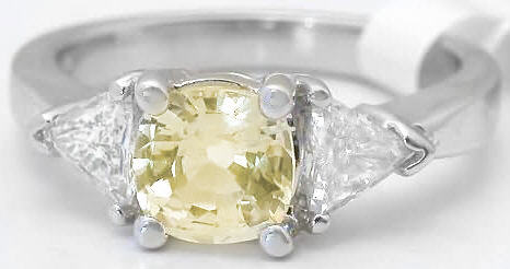 3 stone Yellow Ring