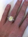 ... 5.36 ctw Ceylon Yellow Sapphire and Diamond Ring in 14k white gold -  SSR-5840 ...