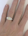 Genuine Radiant Cut Yellow Sapphire Ring with Diamond Halo in 18k white gold