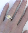 Unheated Untreated Natural Yellow Sapphire Ring in 14k gold